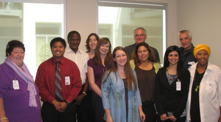 san diego state university student interns with seniors