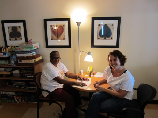 sarah scott sitting with augustine